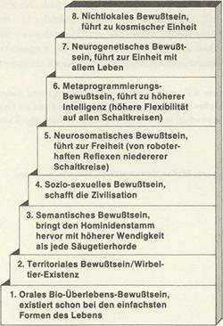 Die 8 Stufen des Bewusstseins