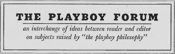 The Playboy Forum
